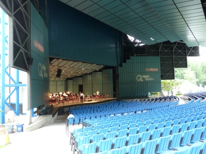 The amphitheater stage