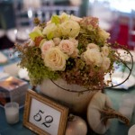 One of the flower arrangements at the Gala celebration
