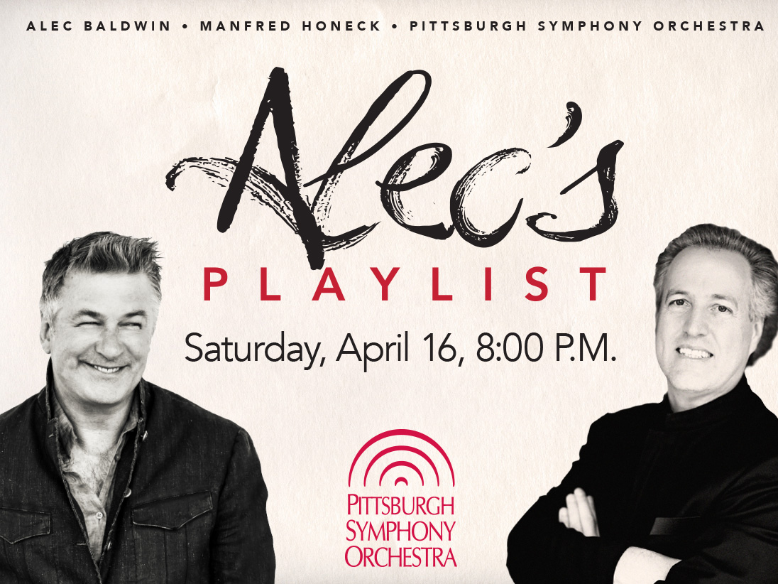 Alec Baldwin Hosts Concert with Manfred Honeck and Pittsburgh Symphony Orchestra