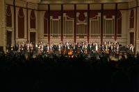 Pittsburgh Symphony on stage with Maestro Gustavo Dudamel