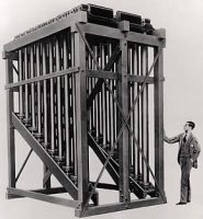 A standard 20-note Deagan Tower Chime System with dampers from 1927 (photo from Top Rung Tower Chime & Organ Service website)